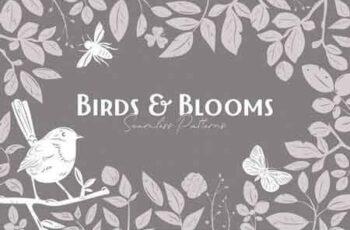 Birds & Blooms Seamless Patterns 3027610 5