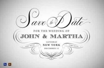 3 Vintage Save The Date Designs 117717 4