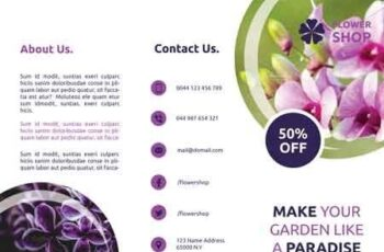 Flower Shop Trifold Brochures 3023701 5