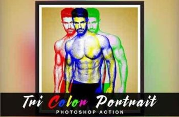 Tri Color Portrait Photoshop Action 2944703 4