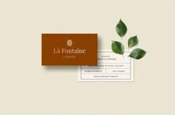 Business Card Template - Fontaine 3
