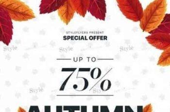 Autumn Sale PSD Flyer Template 2