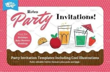 Retro Children's Party Invitations 54075 7