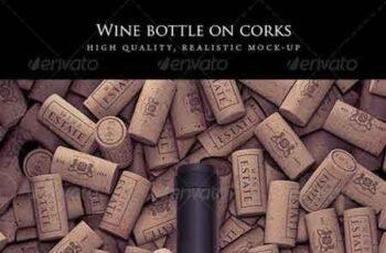 Wine Bottle on Corks Mock-Up 7866895 6