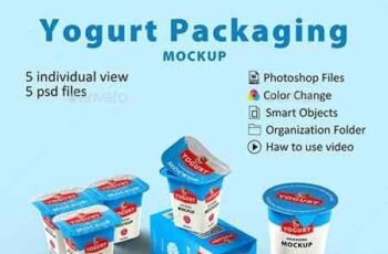 Yogurt Packaging Mockup 22658614 4