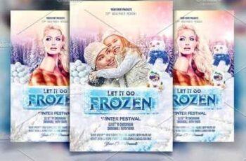 Frozen Winter Party Flyer 2964403 6