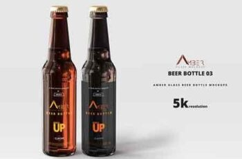 Amber Glass Beer Bottle Mockup 03 2927058 5