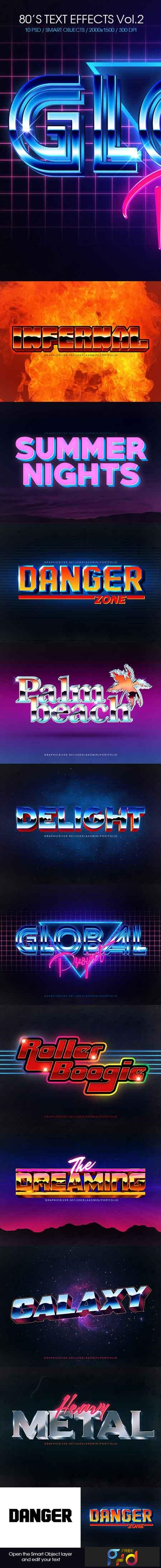 80s Text Effects Vol 2 22668969 - FreePSDvn