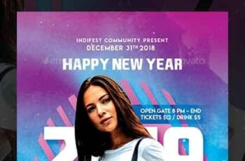 New Year Dj Flyer Templates 22674551 3