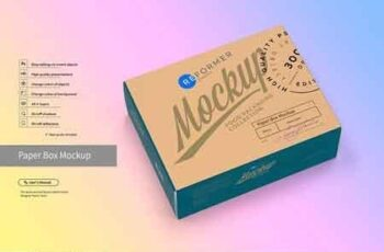 Paper Box Mockup Half Side View 3043541 3