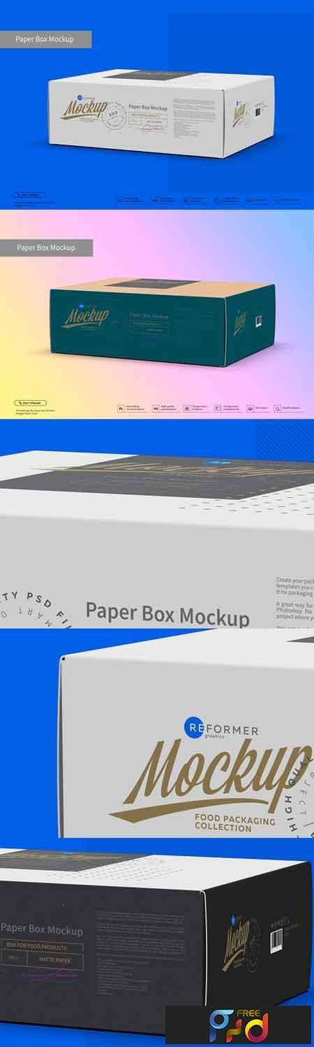 Paper Box Mockup Half Side View 3045690 1