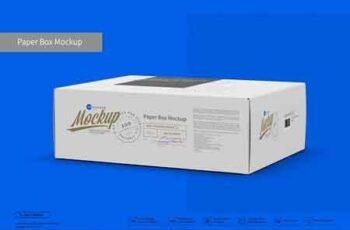 Paper Box Mockup Half Side View 3045690 4