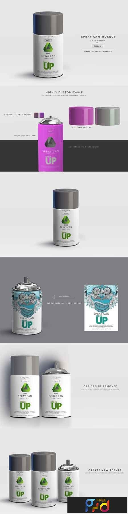 Spray Can Mockup - Small Size 2961931 1