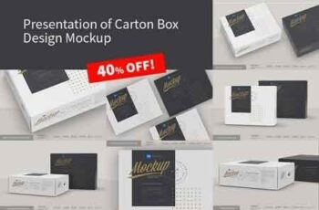 Presentation of Cartoon Box Design Mockup 15