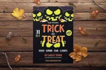 Halloween Trick or Treat Flyer 3070089 3