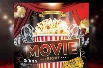 Movie Night Flyer 17564046 5