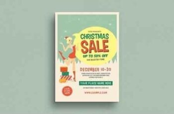 Retro Christmas Sale Event Flyer 3070424 5