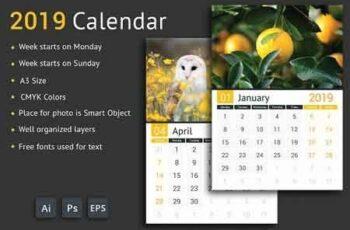 2019 Calendar 2839499 3