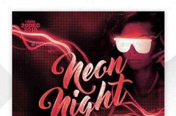 Neon Flyer Template 22657962 4