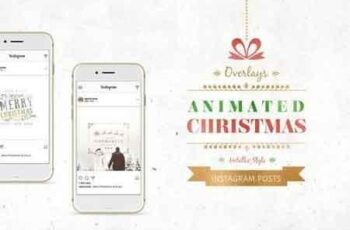 ANIMATED Christmas Posts – Metallic Style 2