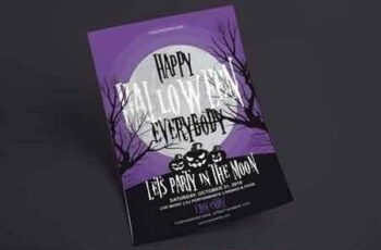 Halloween Flyer - Party In The Moon 3