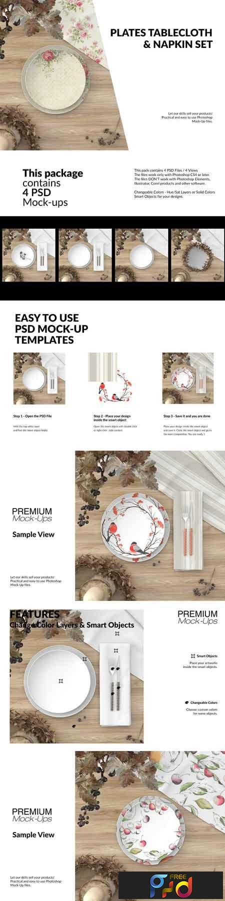 Plates, Tablecloth & Napkin Set 2946768 1