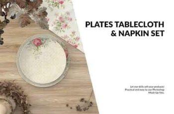 Plates, Tablecloth & Napkin Set 2946768 4