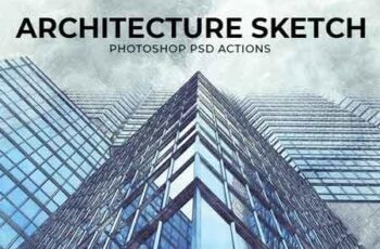 Architecture Sketch Photoshop PSD Action Template 22663408 3