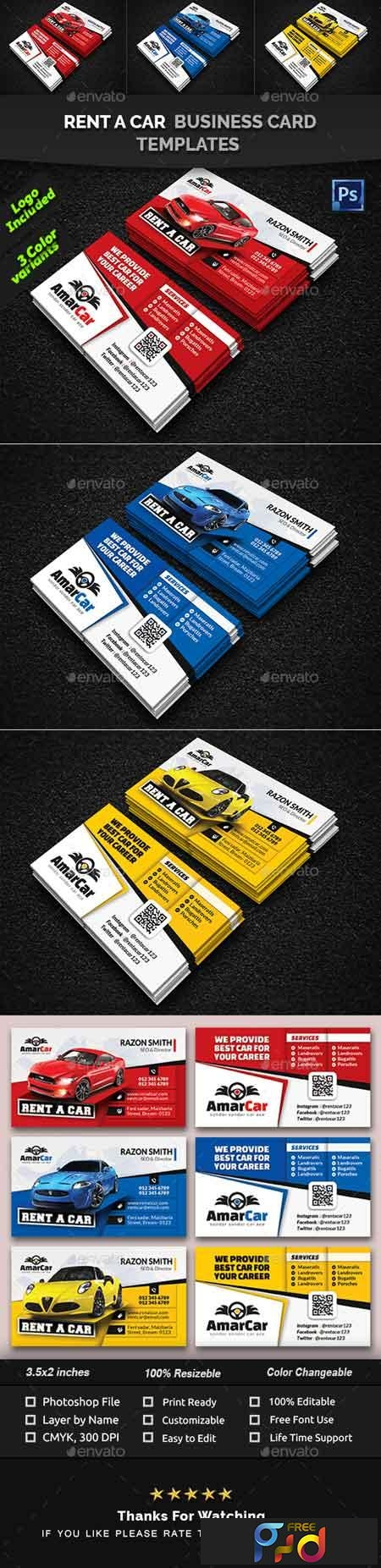 Rent a Car Business Card Templates 22558238 1