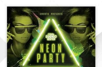 Neon Flyer Template 22658063 2