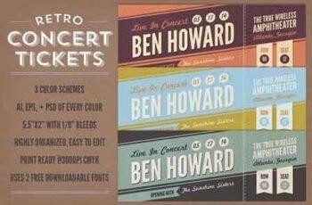Retro Concert Tickets 21083 7
