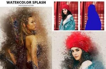 Watercolor Splash Photoshop Action 22654066 4