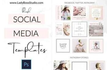 Social Media Templates + Pinterest 2963726 3