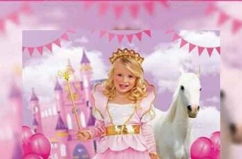Princess Kids Party Flyer 14889778 8