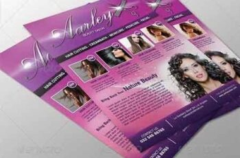 Salon Flyer + Business Card Vol.2 6908369 2