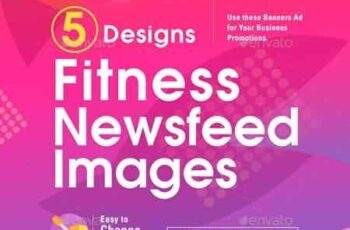 Fitness Social Media Banners - 10 Designs 22557843 4