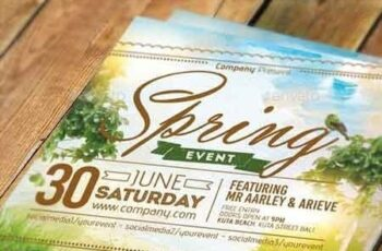 Spring Event Flyer Invitation 11086093 3