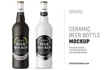 Ceramic beer bottle mockup 2975541 4
