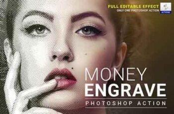 Money Engrave Photoshop Action 22721982 2