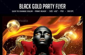 Black And Gold Party Flyer 22675987 6