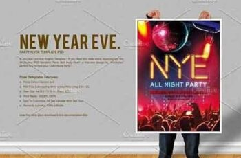 New Year Eve Party Flyer 3076606 4