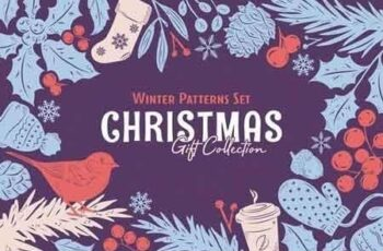 Christmas Gift Vector Patterns Set 3075176 5