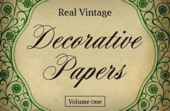 Real Vintage Decorative Papers Vol 1 4689 8