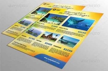 Travel Flyer + Business Card 6867642 5