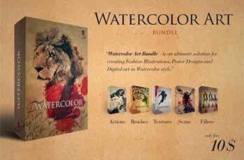 Watercolor Art Master Bundle 3490933 7