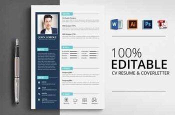 Clean CV Resume Word Template 2960412 6
