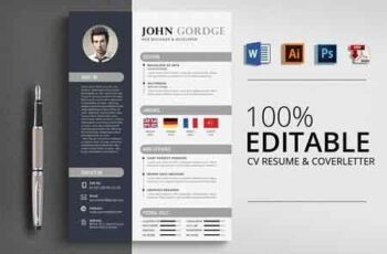 Creative CV Resume Word Design 2960419 3