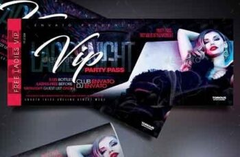 Ladies Night Event Tickets Template 22676140 4