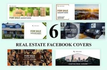 Real Estate Facebook Covers - SK 3032867 2