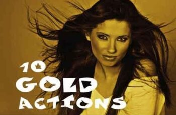 10 gold photoshop actions 3502388 5